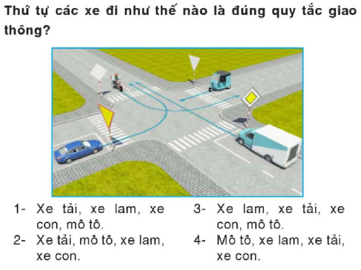 Cách giải bài thi sa hình luật lái xe ô tô