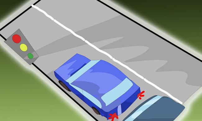 Tín hiệu đèn giao thông khi lái xe